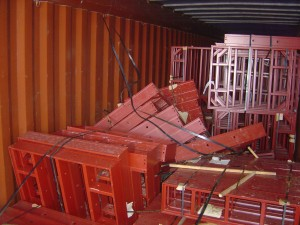 cargo damaged inside container